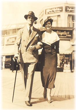 Douglas and Ina Chandor on the Boardwalk