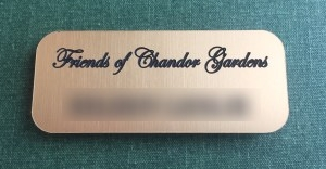 Friends of Chandor Gardens Name Badge