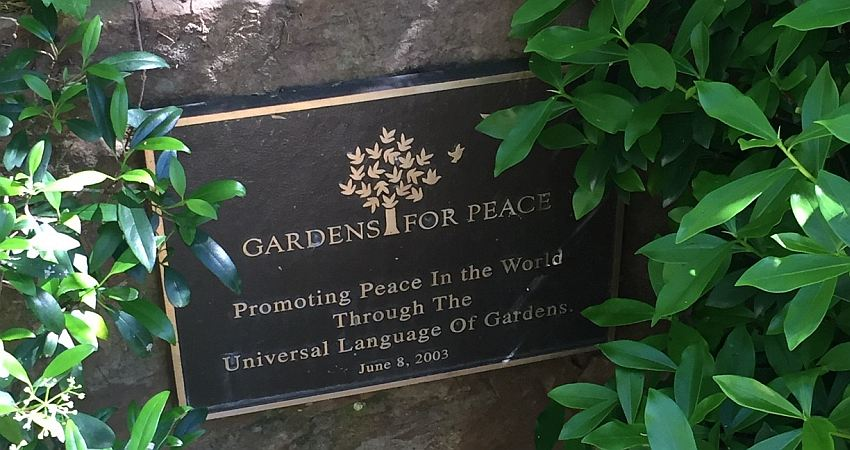 today gardensforpeace plaque